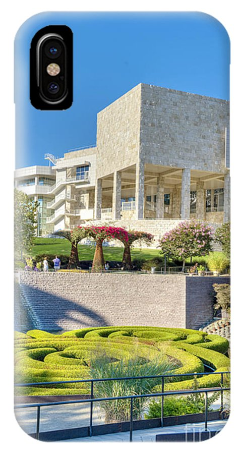 Getty Center IPhone X Case featuring the photograph Getty Center Central Garden Brentwood Ca by David Zanzinger