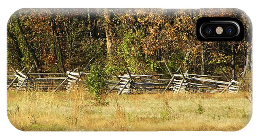 Gettysburg IPhone X Case featuring the photograph Gettysburg Battlefield October by Mary Carol Williams