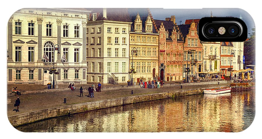 Joan Carroll IPhone X Case featuring the photograph Ghent Waterfront by Joan Carroll