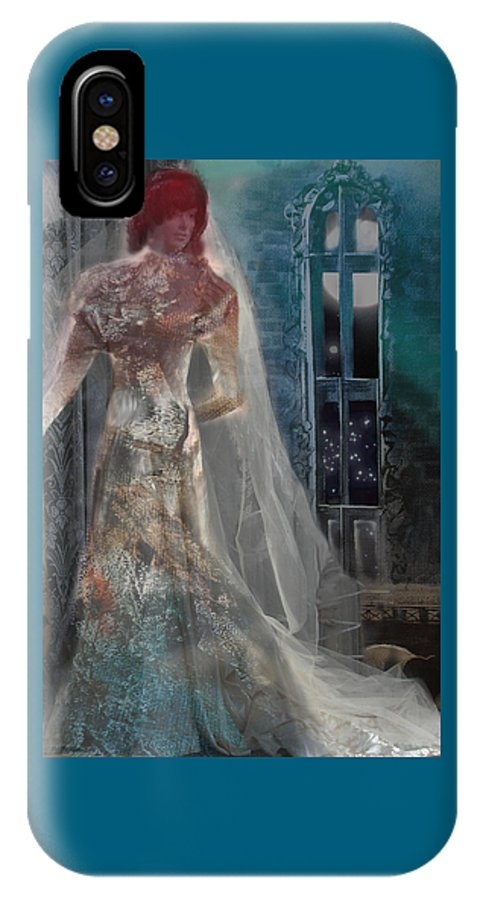 Ghost IPhone X Case featuring the digital art Ghost Bride by Lisa Yount