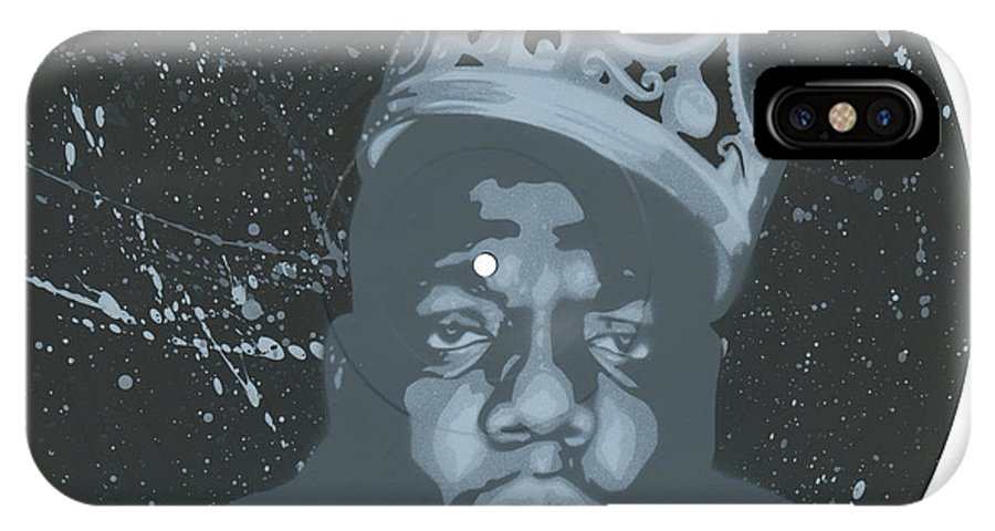 Notorious Big IPhone X Case featuring the painting Ghost Of Biggie by Tim Kravel