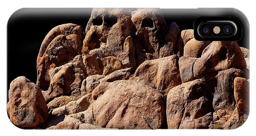 Ghost IPhone X Case featuring the photograph Ghost Rocks Or Ghosts Rock by Marcia Socolik