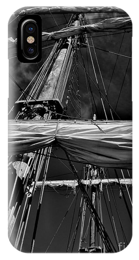 Black And White IPhone X Case featuring the photograph Ghost Ship by Amar Sheow