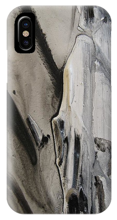 Ghost Story IPhone X Case featuring the painting Ghost Story 2 by Sharon Jones