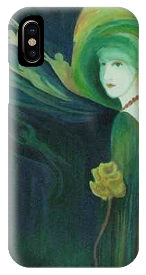Women IPhone X / XS Case featuring the painting My Haunted Past by Carolyn LeGrand