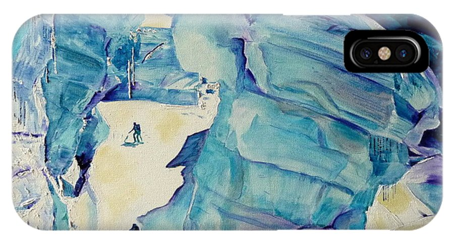 Glaciers IPhone X Case featuring the painting Giant by Danielle Arnal