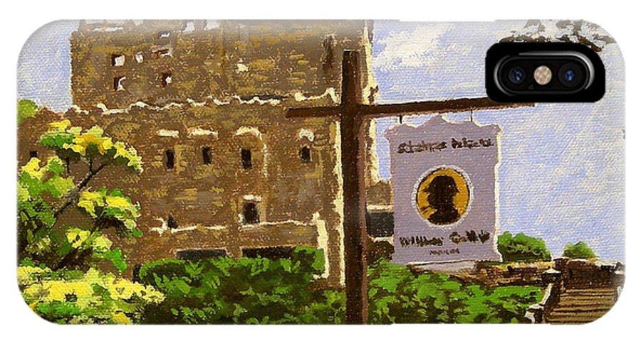 Christine Hopkins IPhone X Case featuring the painting Gillette Castle East Haddam Connecticut by Christine Hopkins