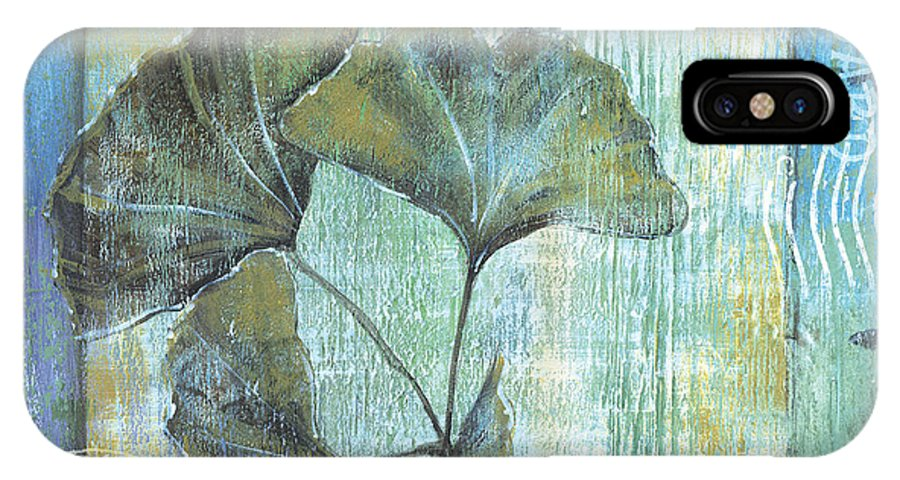 Ginkgo IPhone X Case featuring the painting Gingko Spa 2 by Debbie DeWitt