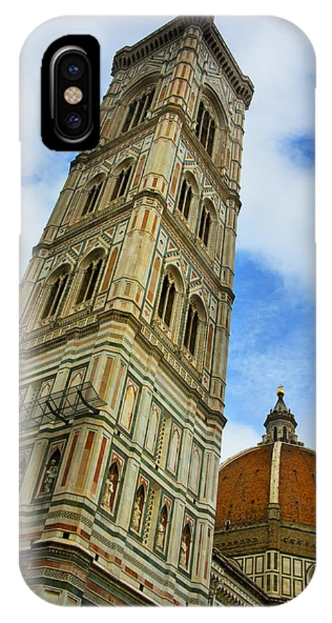 Giotto's Campanile IPhone X / XS Case featuring the photograph Giotto Campanile Tower In Florence Italy by Pam Elliott