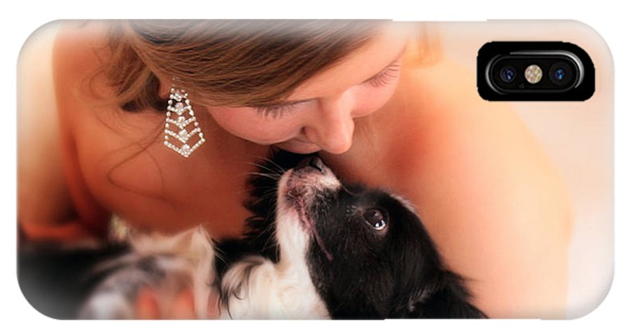 Prom IPhone X Case featuring the photograph Girl And Her Dog by Rick Rea