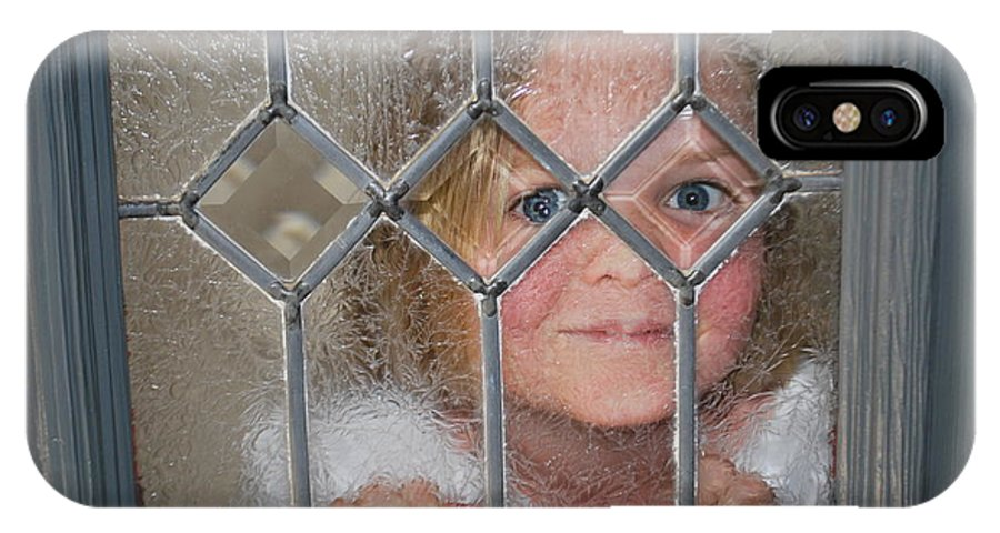 Portrait IPhone X Case featuring the photograph Girl At The Window by Bradley Bennett