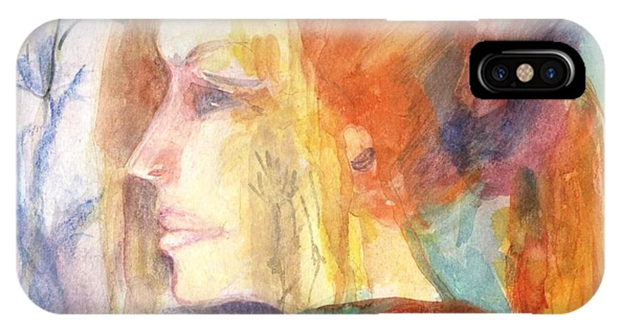 IPhone X Case featuring the painting Girl At Window by Patricia Blanton