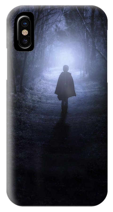 Girl IPhone X Case featuring the photograph Girl In The Woods by Joana Kruse