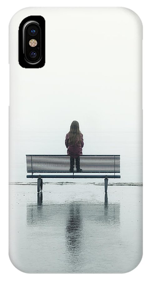 Female IPhone X Case featuring the photograph Girl On A Bench by Joana Kruse