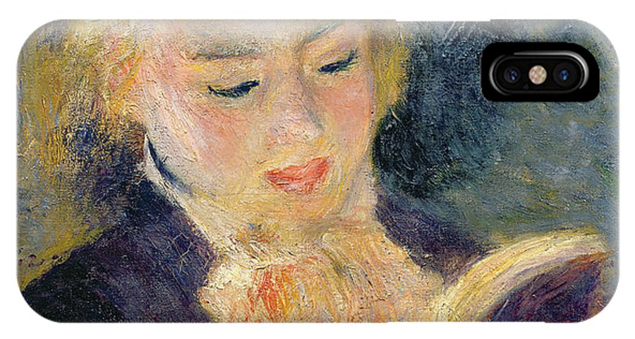 Impressionist IPhone X Case featuring the painting Girl Reading by Pierre Auguste Renoir