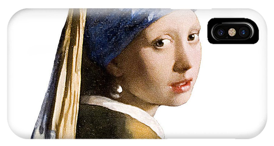 Vermeer IPhone X Case featuring the photograph Girl With Pearl Earring Flip Side by Peter Lloyd