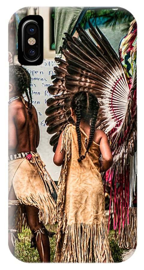 Indian Girls IPhone X Case featuring the photograph Girls At Play by Michael Carruolo