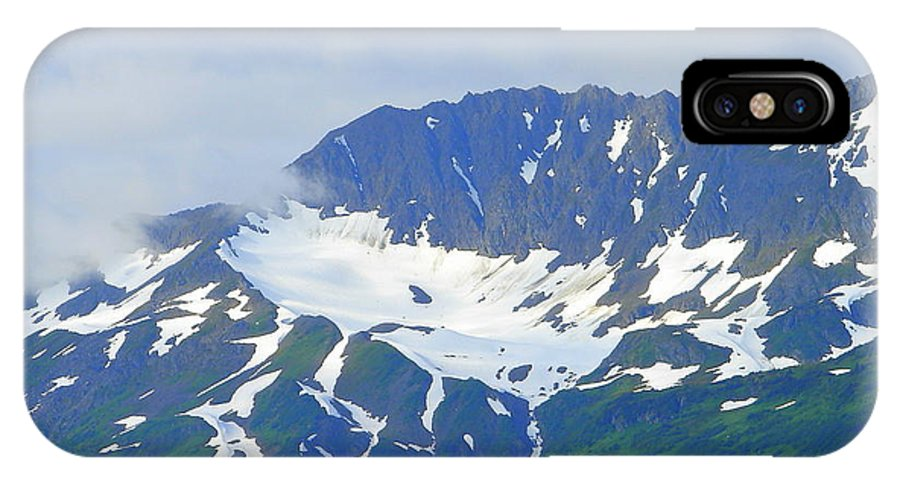 Alaska IPhone X Case featuring the photograph Glacier 1 by Lew Davis