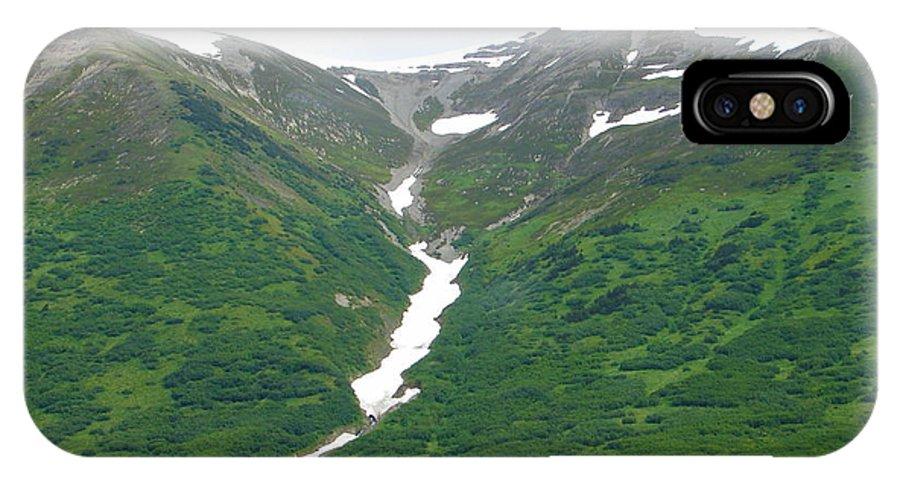 Alaska IPhone X Case featuring the photograph Glacier 14 by Lew Davis