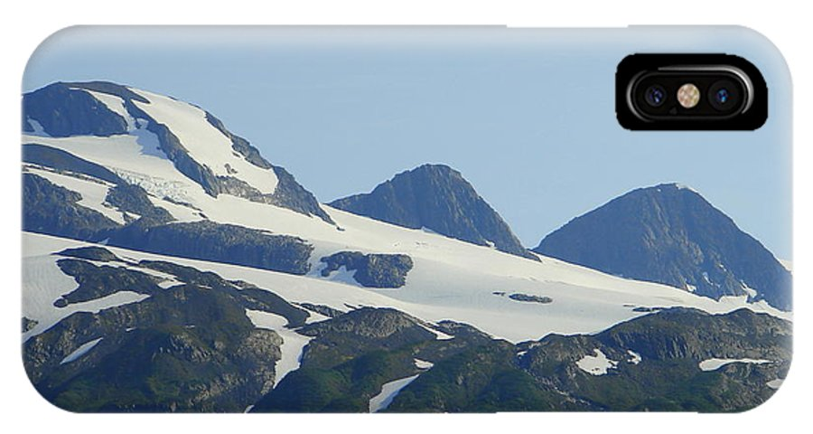 Alaska IPhone X Case featuring the photograph Glacier 17 by Lew Davis