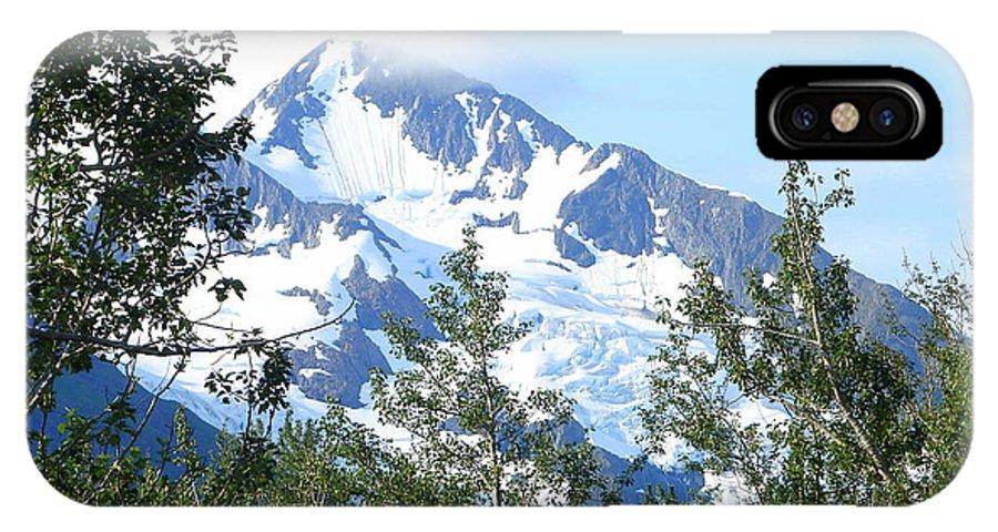 Alaska IPhone X Case featuring the photograph Glacier 5 by Lew Davis