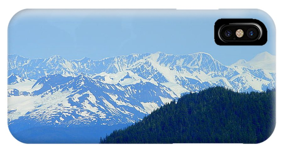 Alaska IPhone X Case featuring the photograph Glacier 6 by Lew Davis