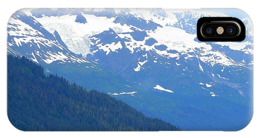 Alaska IPhone X Case featuring the photograph Glacier 8 by Lew Davis