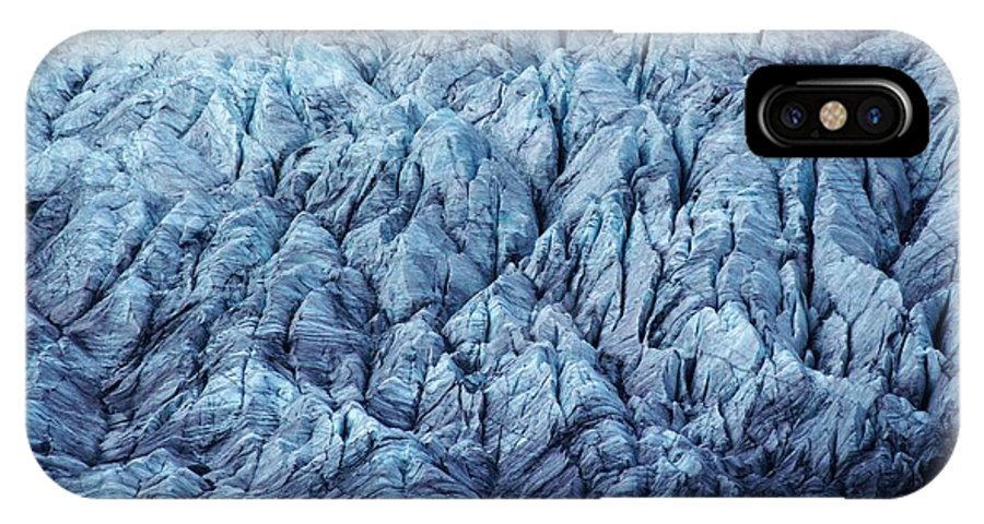 Switzerland IPhone X Case featuring the photograph Glacier Ice by David Broome