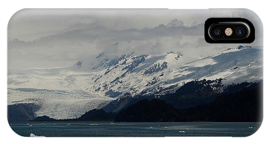 Prince William Sound IPhone X Case featuring the photograph Glacier In Prince William Sound by Laura Lowrey