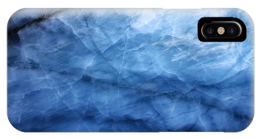 Glacier IPhone X Case featuring the photograph Glacier Of Glass by David Broome