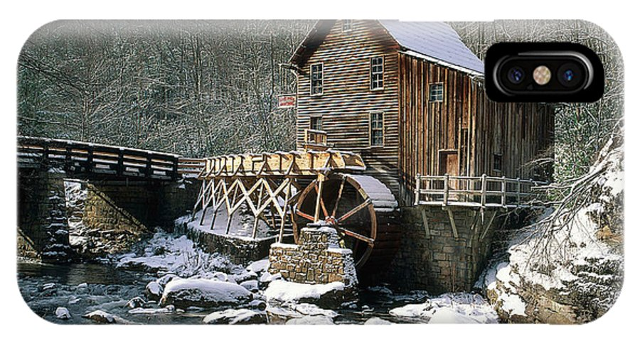 Winter IPhone X / XS Case featuring the photograph Glade Creek Grist Mill In West Virginia by David Davis