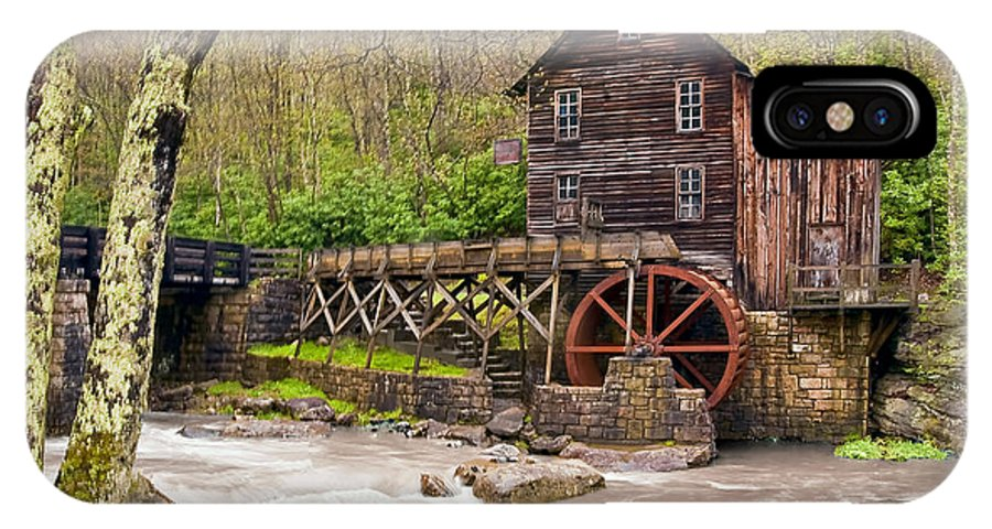 Grist Mill IPhone X Case featuring the photograph Glade Creek by Marcia Colelli