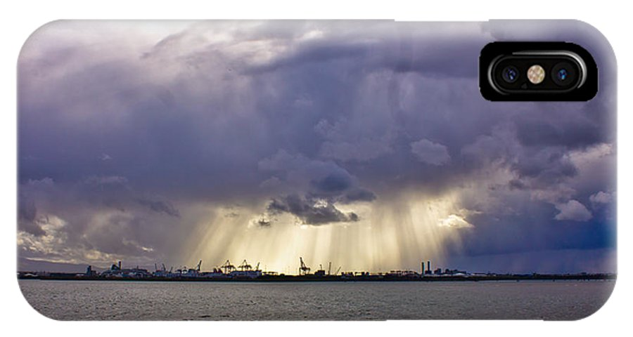 Dublin IPhone X / XS Case featuring the photograph Glare Over Clontarf by Alex Art and Photo