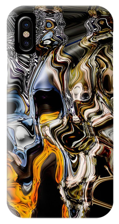 Abstracts IPhone X Case featuring the photograph Melting Glass by Carolyn Ascher