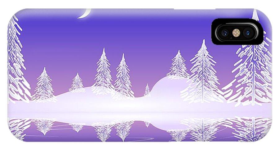 Cool IPhone X Case featuring the digital art Glass Winter by Anastasiya Malakhova