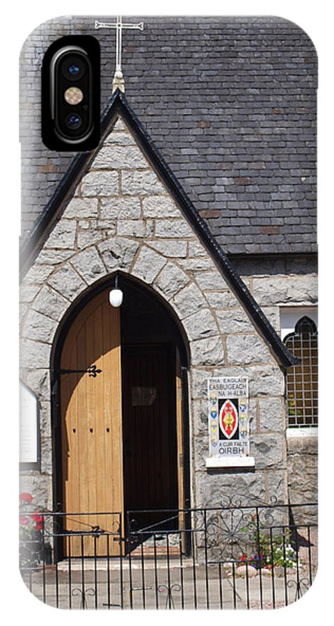 Church IPhone X Case featuring the photograph Glen Coe Church by Michaela Perryman