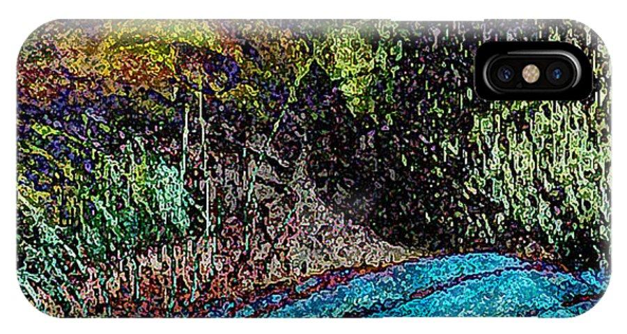 Digital Artwork IPhone X Case featuring the digital art Glen Eden by Larry Cooper