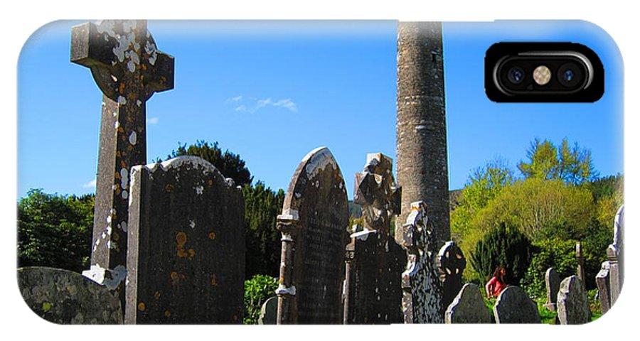 Glendalough IPhone X Case featuring the photograph Glendalough by David McCadden