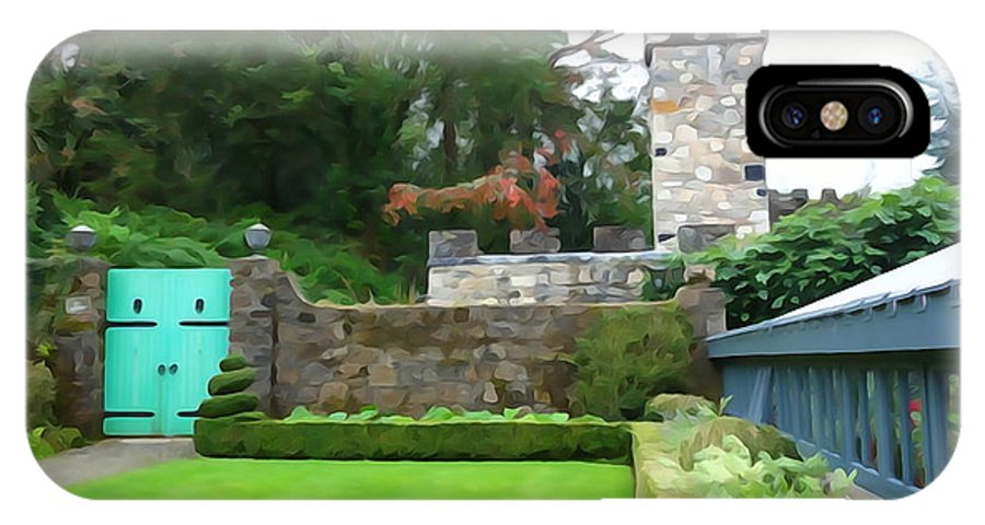 Gate IPhone X Case featuring the photograph Glenveagh Garden Gate by Charlie and Norma Brock