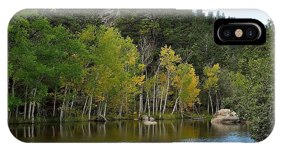 Fall IPhone X Case featuring the photograph Glimpse Of Fall by Susan Chesnut
