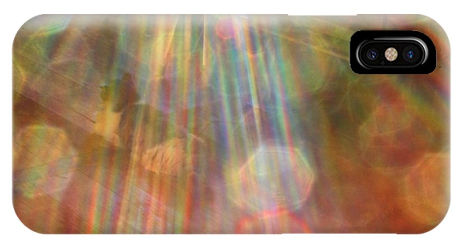Abstract IPhone X / XS Case featuring the digital art Gloria Catchin' Rays by Aliceann Carlton