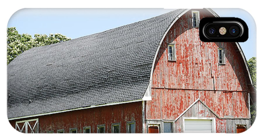 Americana IPhone X Case featuring the photograph Glorious Barn by Marilyn Hunt