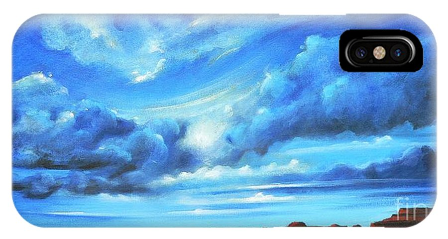 Acrylics IPhone X Case featuring the painting Glorious Morning by S G