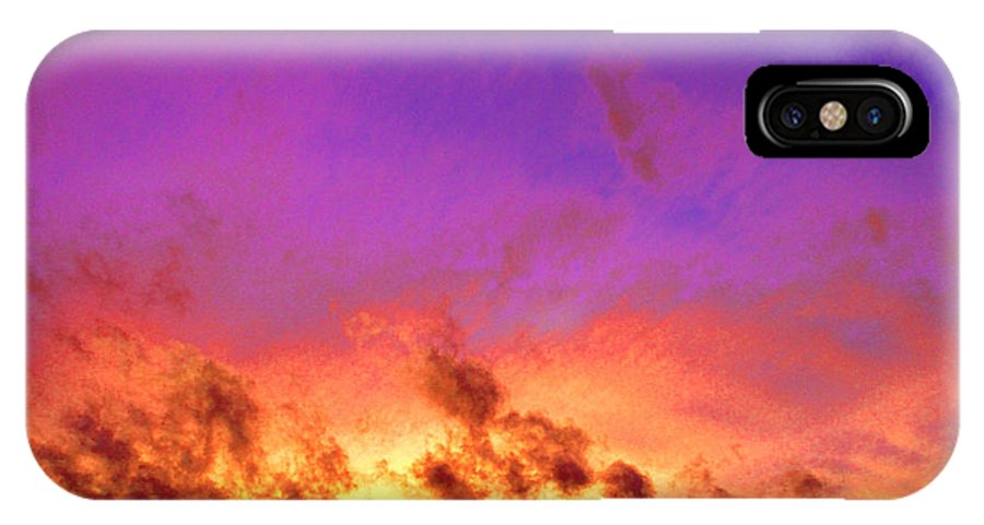 Sunset IPhone X / XS Case featuring the photograph Glorious by Ryan Nicholson