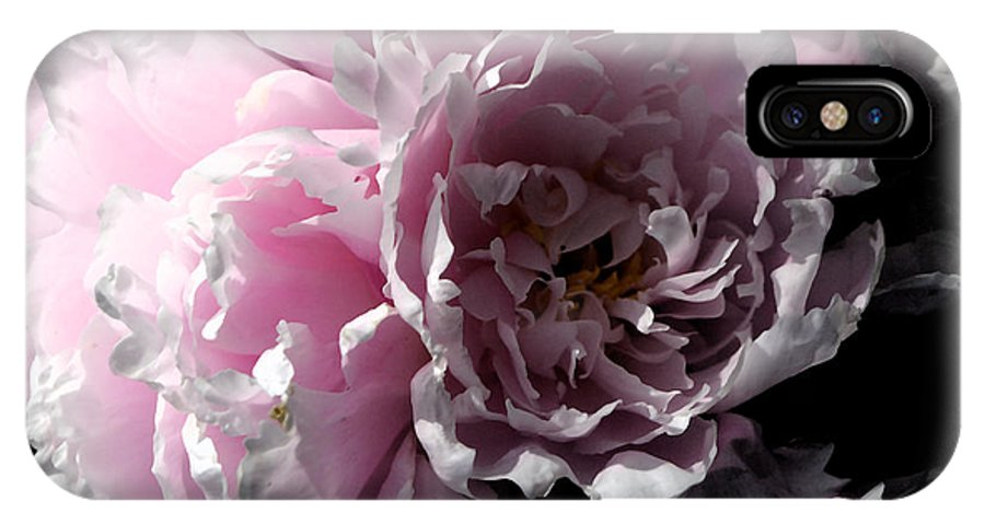 Peony IPhone X Case featuring the photograph Glowing Pink Peony by Christiane Schulze Art And Photography