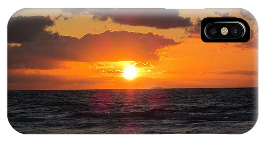 Florida IPhone X Case featuring the photograph Glowing Sunrise by MTBobbins Photography
