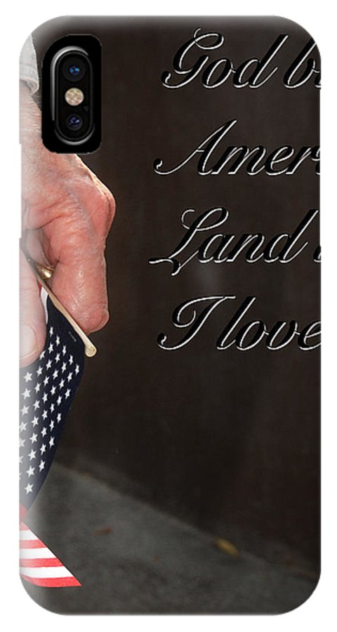 Ken IPhone X Case featuring the photograph God Bless America by Ken Johnson