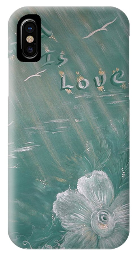 Christian Art IPhone Case featuring the painting God Is Love by Mary Grabill