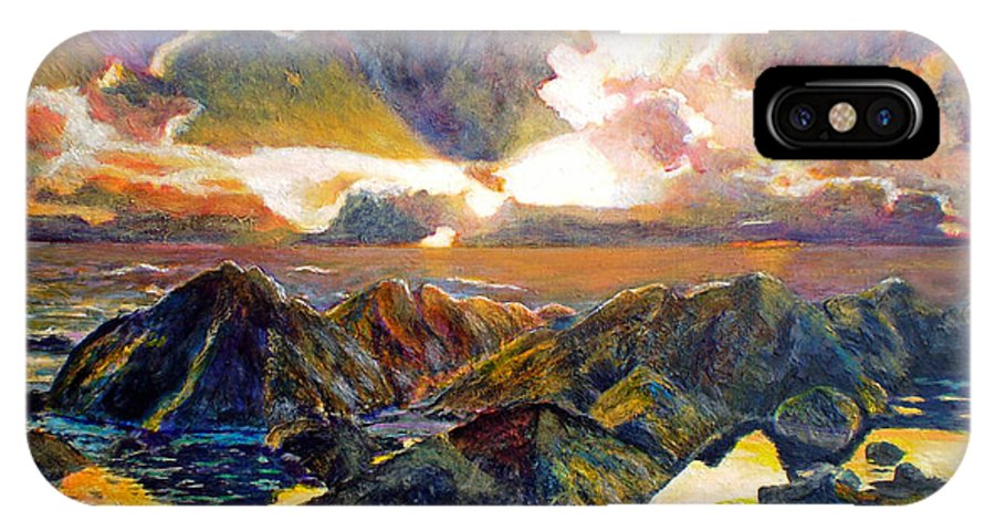 Seascape IPhone X Case featuring the painting God Speaking by Michael Durst