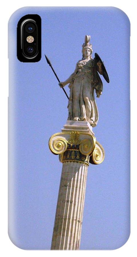 Athens IPhone X Case featuring the photograph Goddess Athena by Teresa Ruiz